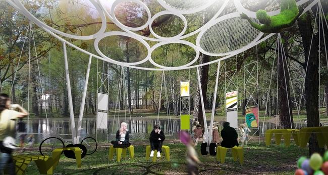 Балансирующий павильон победителя конкурса испанского архитектора Хавьера Понсе